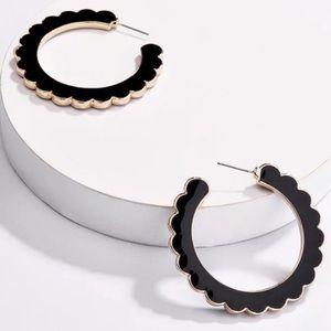 Desideria Scalloped Hoop Earrings!